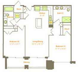 Two Bedroom (2C, 2F)