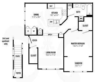A 2D drawing of the Chelsea floor plan