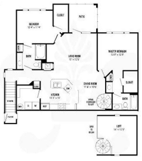 A 2D drawing of the Somerset Renovated floor plan