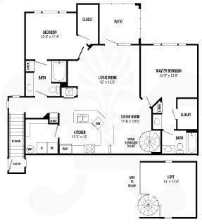 A 2D drawing of the Somerset floor plan