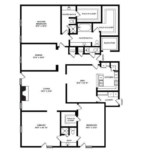 A 2D drawing of the 29 floor plan