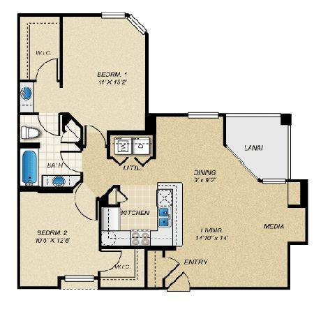 A 2D drawing of the Chesapeake floor plan