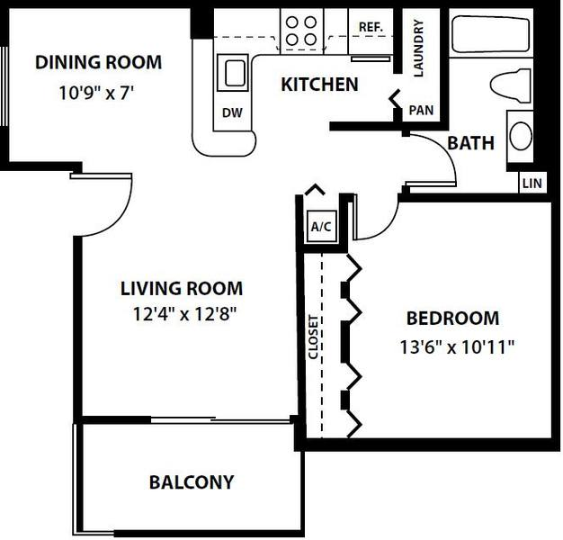 A 2D drawing of the The Ashton floorplan