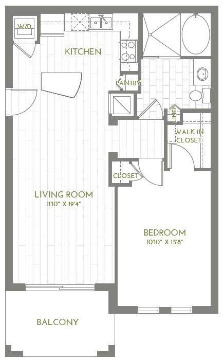 A 2D drawing of the A2-B floor plan