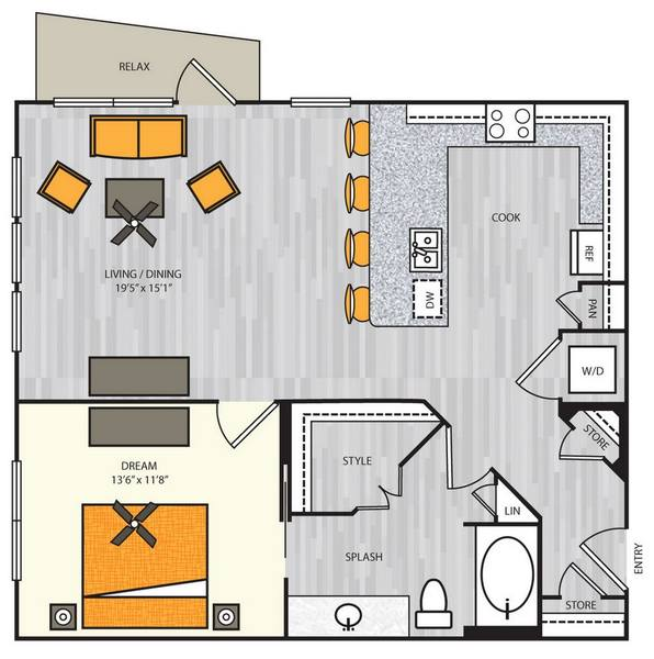 A 2D drawing of the A4.2 floor plan