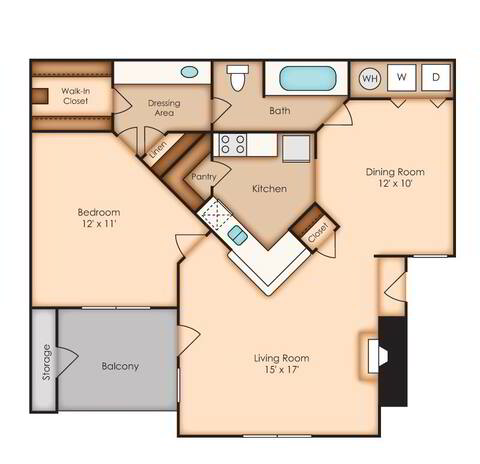 Floorplan Potomac (AA3) layout