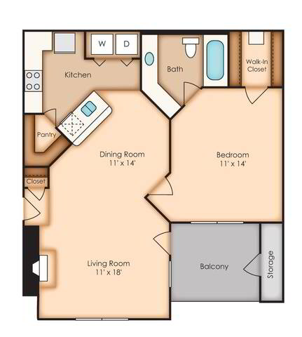 Floorplan Washington (AA1) layout