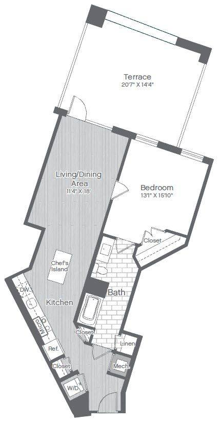 A 2D drawing of the B19 floor plan