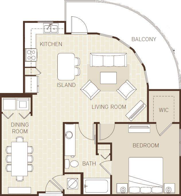 A 2D drawing of the The Antigua floor plan