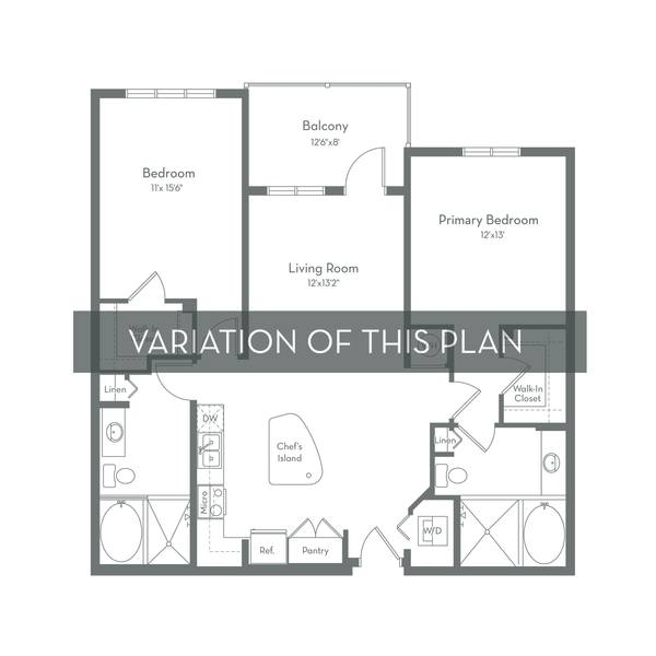 A 2D drawing of the B1.A floor plan