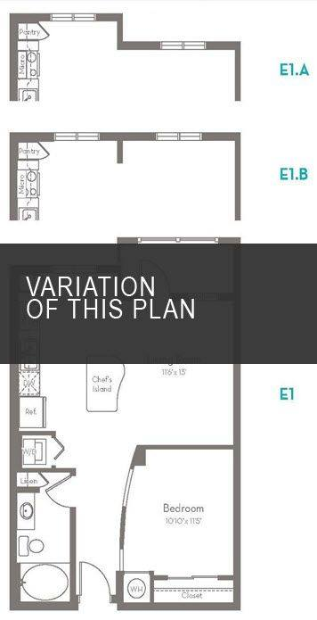 A 2D drawing of the E1.C floor plan