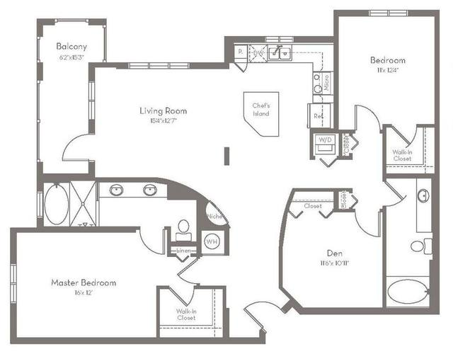 A 2D drawing of the C1.A floor plan