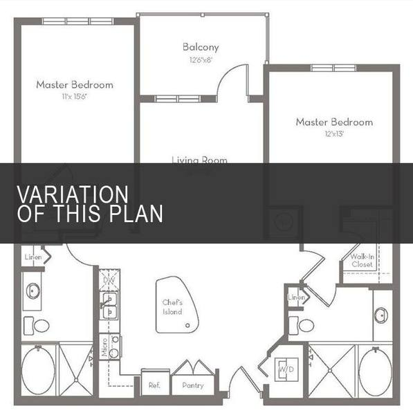 A 2D drawing of the B1.C floor plan