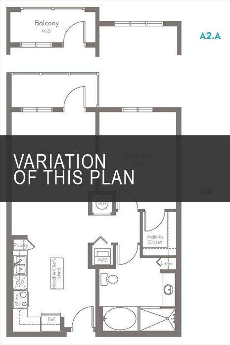 A 2D drawing of the A2.F floor plan