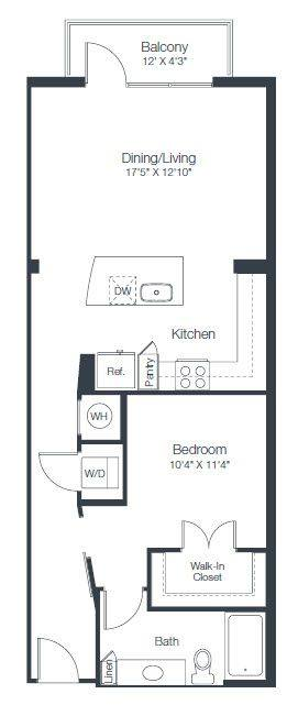 A 2D drawing of the A3A floor plan