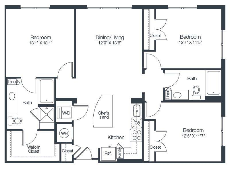 A 2D drawing of the C1 floor plan