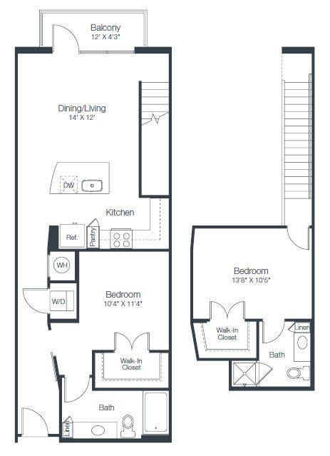 A 2D drawing of the B5 floor plan
