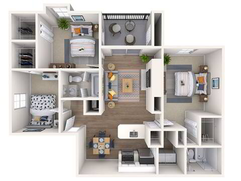 Floorplan Orchid Renovated layout