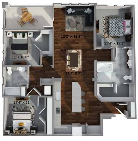 Floorplan C2 layout