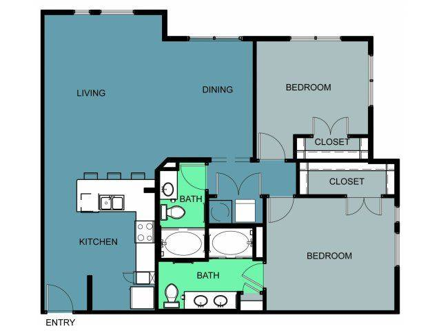 A 2D drawing of the b3 a/c floor plan