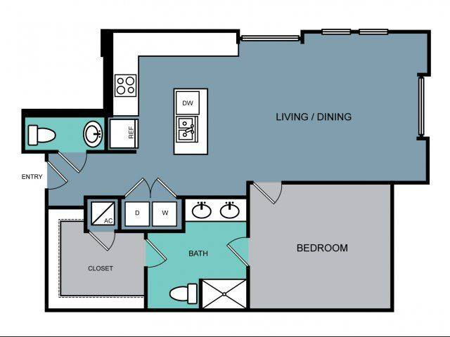 A 2D drawing of the a2.1 floor plan