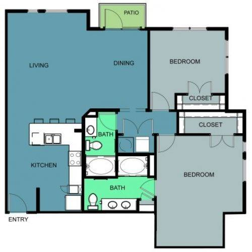 A 2D drawing of the b3b floor plan