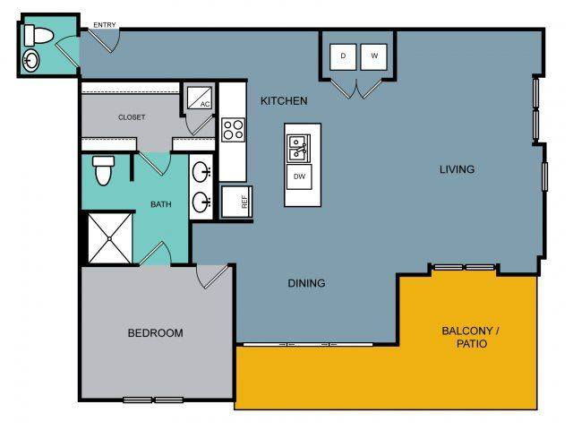 A 2D drawing of the a6.1 floor plan