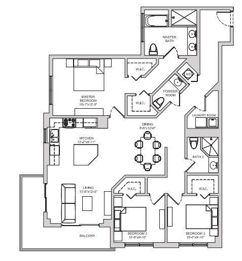 A 2D drawing of the C4 floor plan
