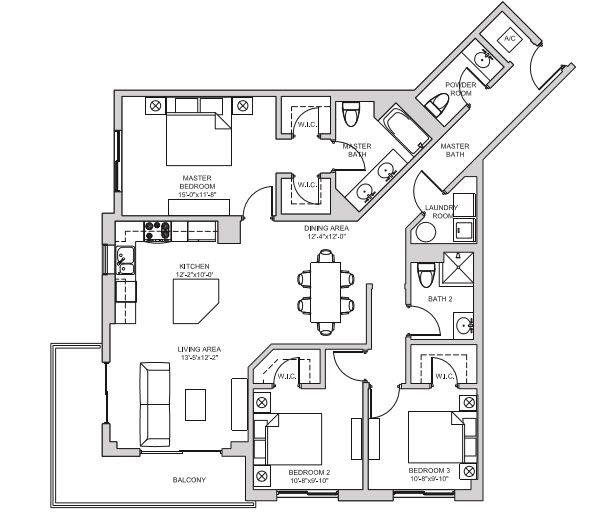 A 2D drawing of the C5 floor plan