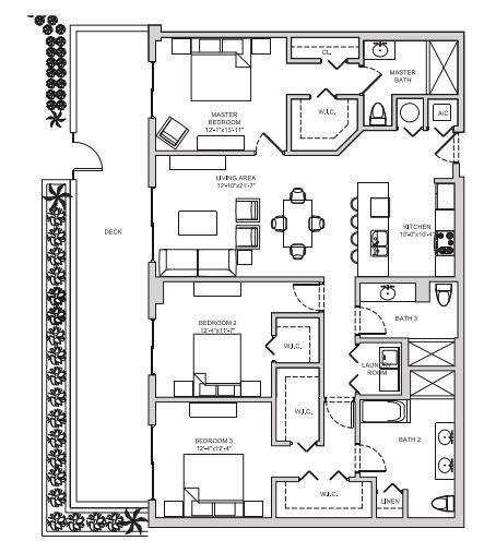 A 2D drawing of the C6 floor plan