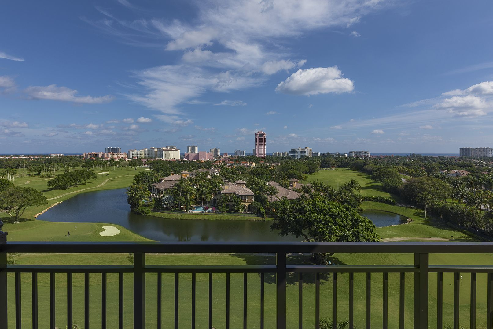 view of a Boca Raton golf course and skyline