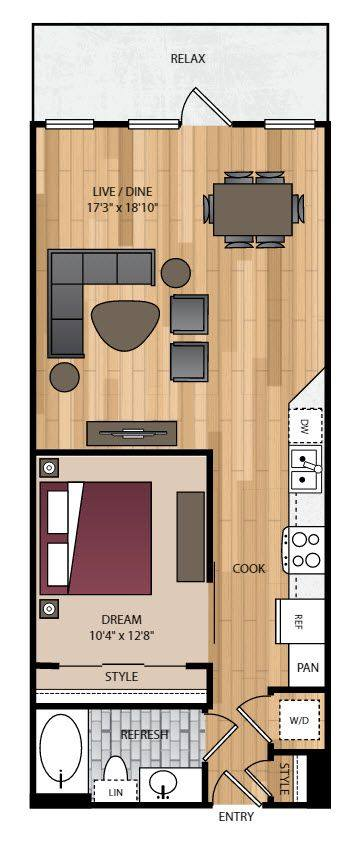 A 2D drawing of the P-A12 floor plan