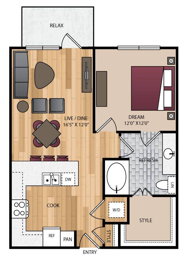A 2D drawing of the P-A3 floor plan