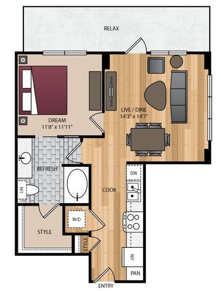 A 2D drawing of the P-A5 floor plan