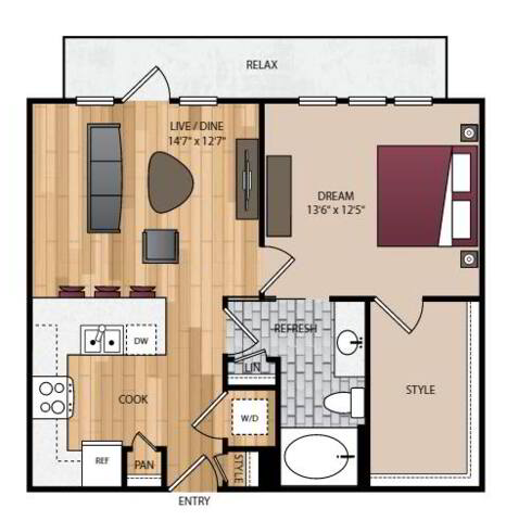 Floorplan A2.1 layout