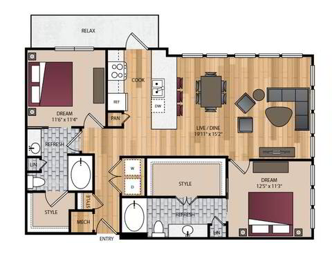 Floorplan B5 layout