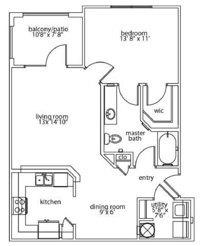 Floorplan Harmony Patio layout