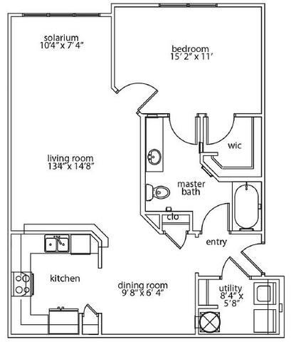 Floorplan Repose Solarium layout
