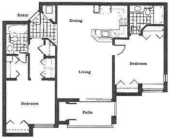 A 2D drawing of the The Banyan floor plan