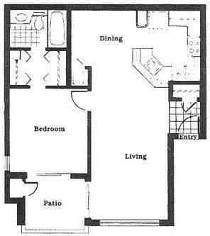 A 2D drawing of the The Sabal floor plan