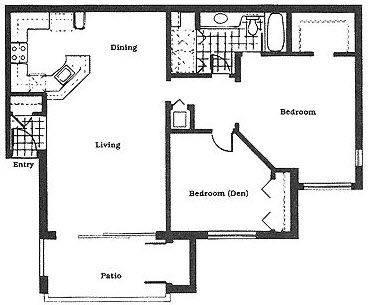 A 2D drawing of the The Mahogany floor plan