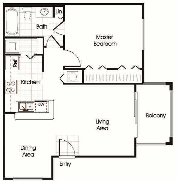 A 2D drawing of the E1 floor plan