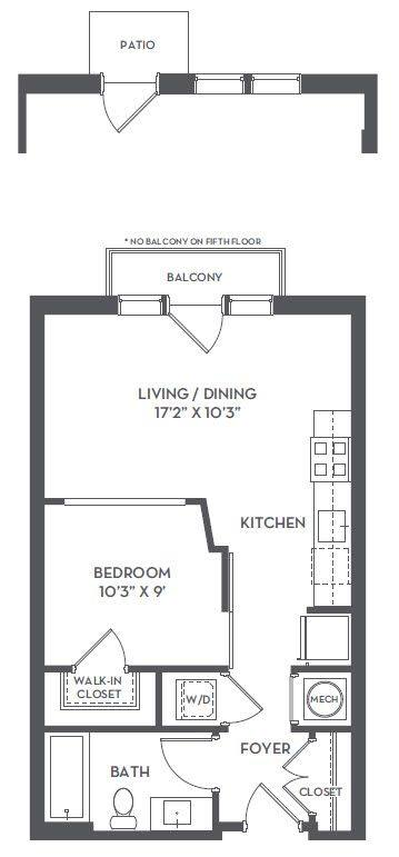A 2D drawing of the O-A1 floor plan