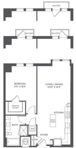 Floorplan 1-F layout