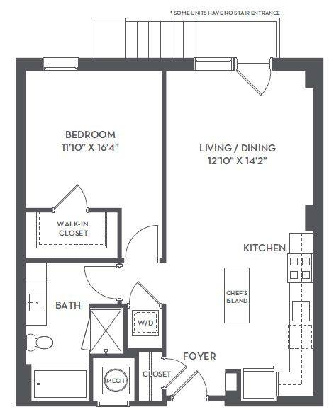A 2D drawing of the 1-F1 floor plan