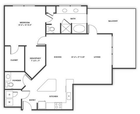 Floorplan A6 layout