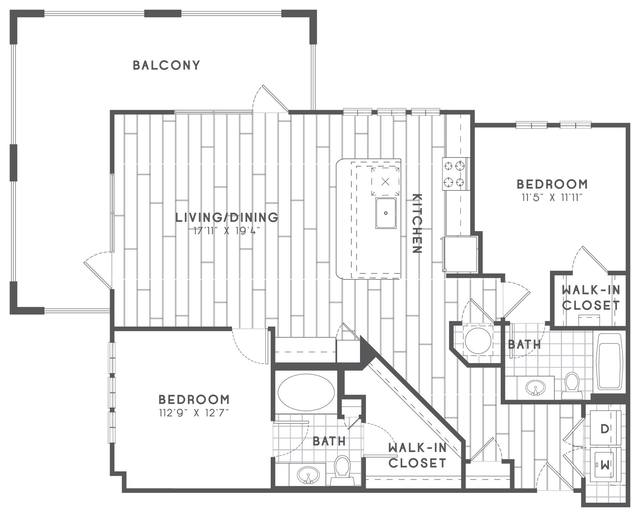 A 2D drawing of the B4.2 floor plan