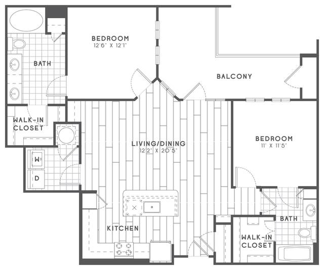 A 2D drawing of the B3 floor plan