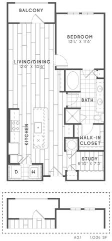 Floorplan A3 Study layout
