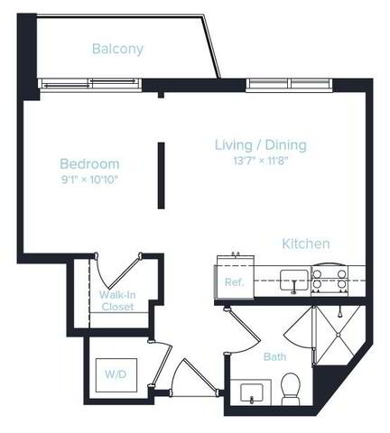 Floorplan Unit C layout